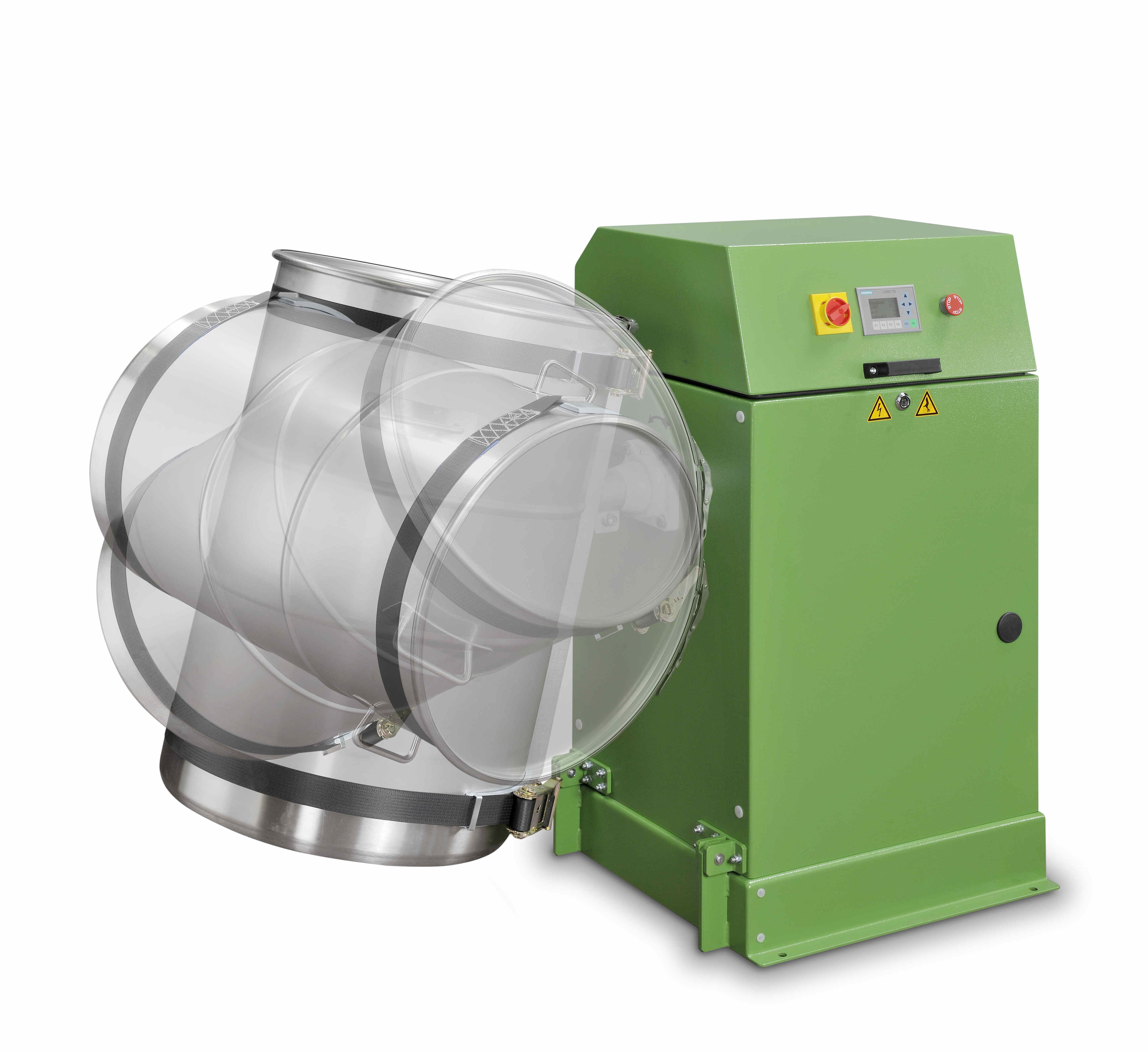 Drum blender electrically tilting MIXOMAT C-SE LC 200